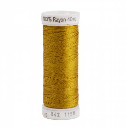 Rayon Thread 2-ply 40wt  250yds Temple Gold, 1159