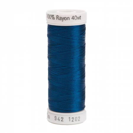 Rayon Thread 2-ply 40wt 268d 250yds Deep Turquoise