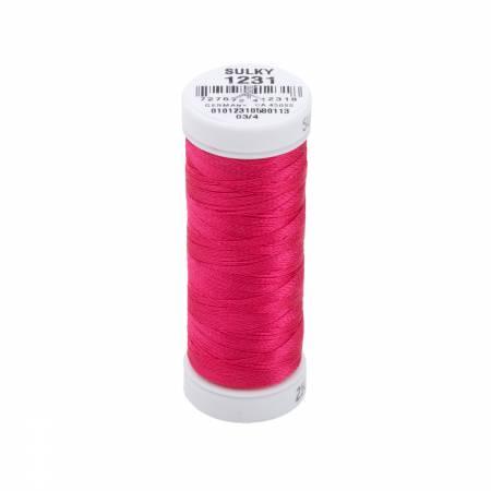 Rayon Thread 2-ply 40wt  250yds Medium Rose, 1231