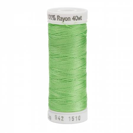Rayon Thread 2-ply 40wt  250yds Lime, 1510