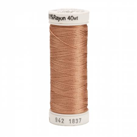1837 Rayon 40wt 250yds Light Cocoa Sulky