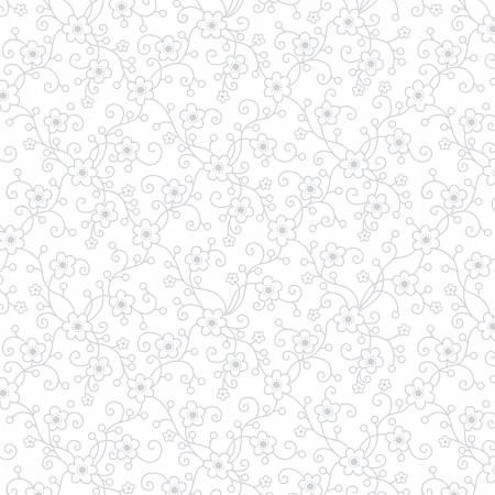 White White on White Daisy Vine