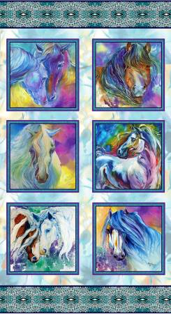 Color Your World with Horses Panel