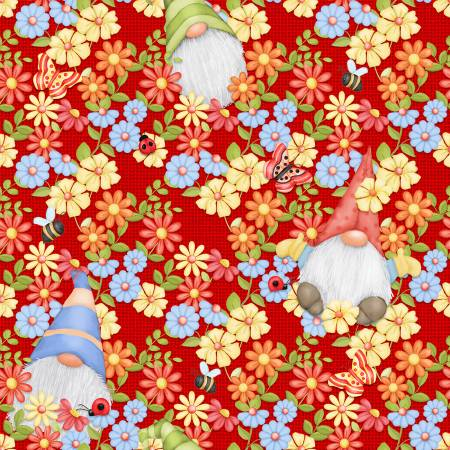 Red Peeking Gnomes