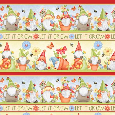 Gnome Is Where The Garden Grows - Gnomes Novelty Stripe