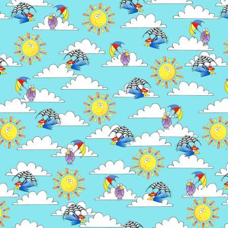 Light Blue Sky, Clouds & Sun