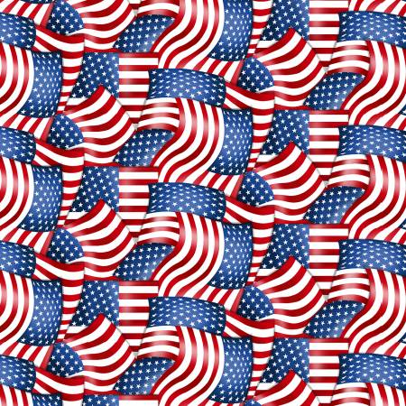 Red American Flag Packed