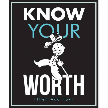 Camelot Hasbro Gaming Monopoly Know Your Worth Panel 36in