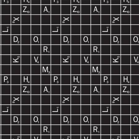 Black Hasbro Scrabble Letter