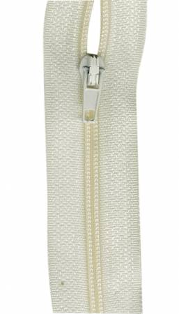 Make-A-Zipper Regular 5.5yd (197in) roll & 12 zipper pulls Cream