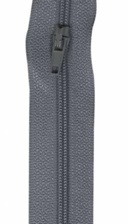 Make-A-Zipper Regular 5.5yd (197in) roll & 12 zipper pulls Grey