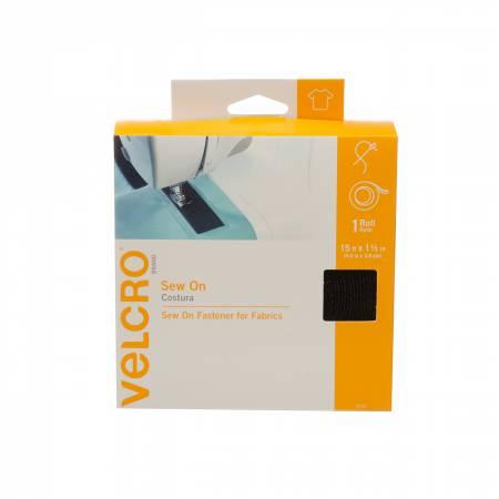 VELCRO? Brand Fastener Sew On 1.5in x 15ft Black