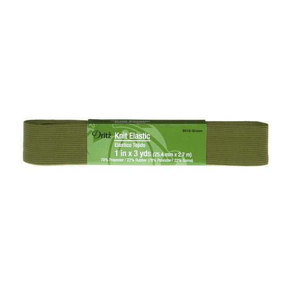Dritz Knit Elastic 1in X 3yds - Green