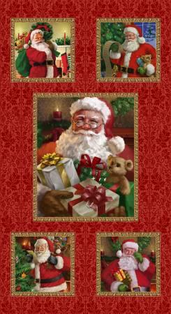 Christmas Legend Red Santa Block Panel