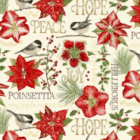 Holiday Botanical Multi Flowers & Birds