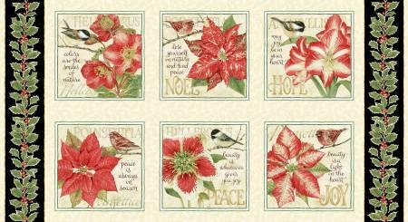 Holiday Botanical Multi Large Block Panel
