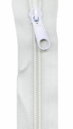 Make-A-Zipper Heavy Duty 3yd (108in) roll & 12 Zipper Pulls White
