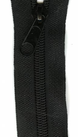 Make-A-Zipper Heavy Duty 3yd (108in) roll & 12 Zipper Pulls Black