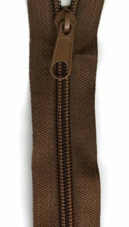Make-A-Zipper Heavy Duty 3yd (108in) roll & 12 Zipper Pulls Brown