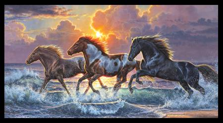 Against The Wind Horse Panel