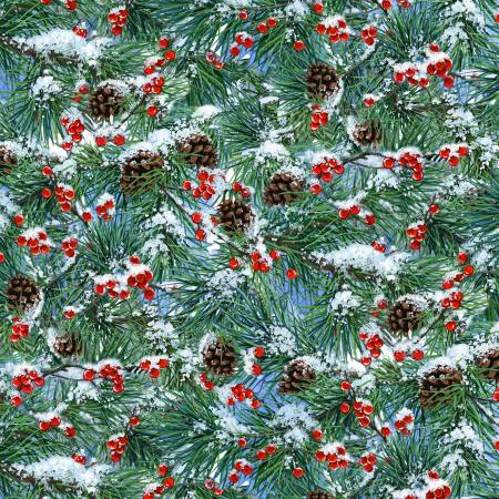 Elizabeth's Studio Winter Companions 9611MULTI Multi Winter Pine