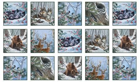 Ellizabeth Studio Winter Companions 9612snow Panel