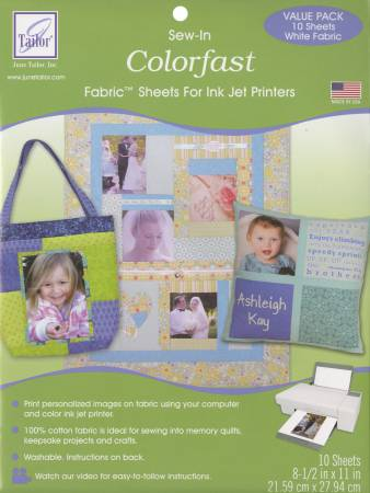 Colorfast Computer Fabric White