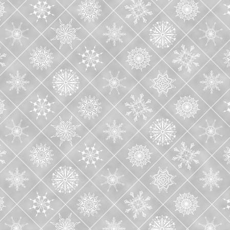Grey Snowflakes in Boxes - Holiday Lane