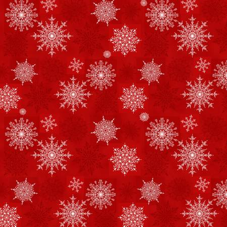 Holiday Lane Red Snowflakes Texture