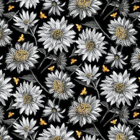 A Bee's Life Black Daisy Allover 96405 955