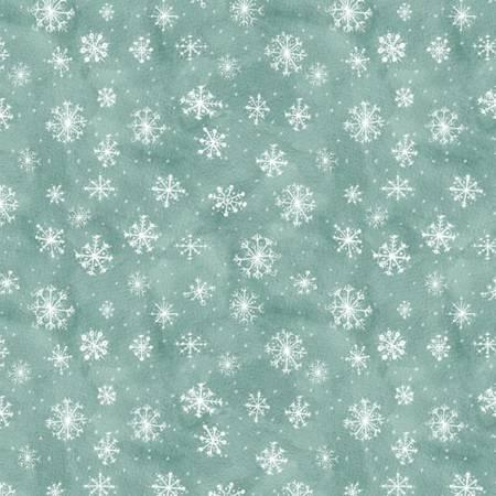 Friendly Gathering Teal Snowflake 96425 414 by Wilmington Prints+