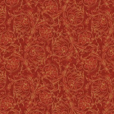 Royal Red-Red Scroll