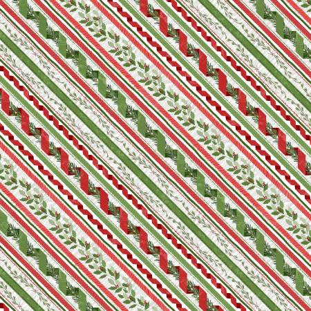 Woodland Friends Red Ticking Stripe