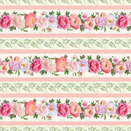 Flower Study Repeating Stripe Multi