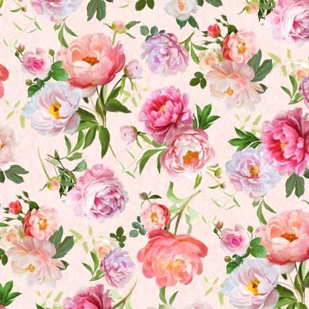 Flower Study Floral Toss Peach