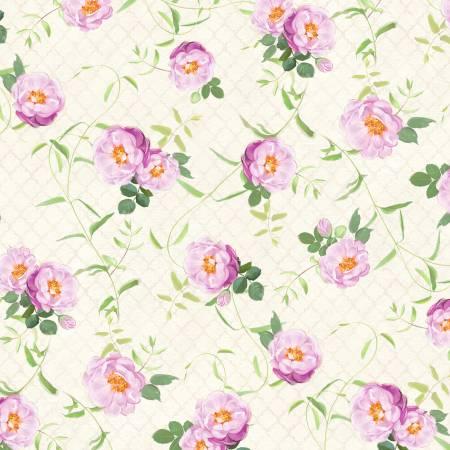 Flower Study Floral Vines Cream