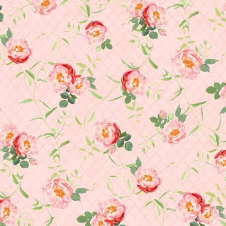 Peach Floral Vines