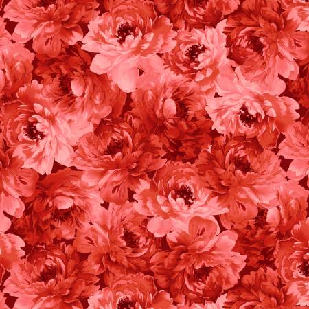 Red Floral Packed Tonal