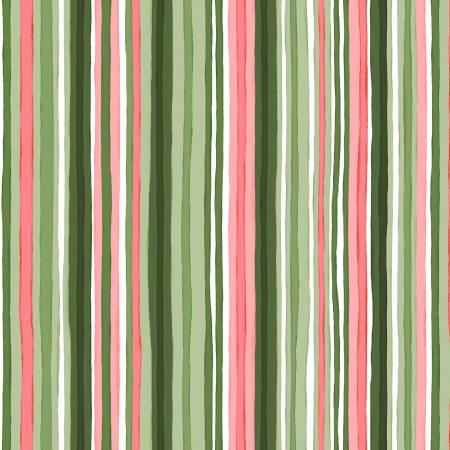 Green Painterly Stripe