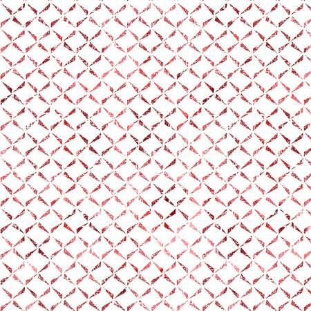 Ultra White/Red Delicate Crosshatch