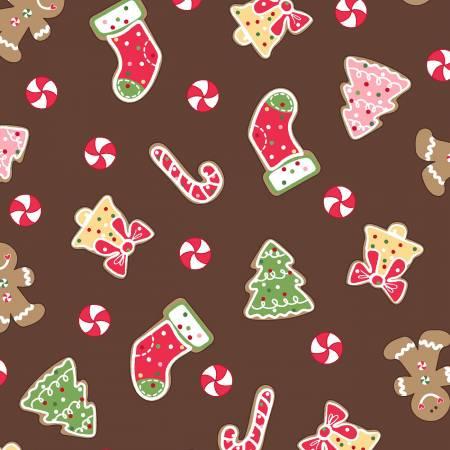We Whisk You a Merry Christmas - Brown Christmas Cookies - Maywood Studios - Kimberbell - 714329980706  - 9671M-A