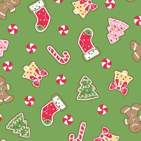 Green Christmas Cookies