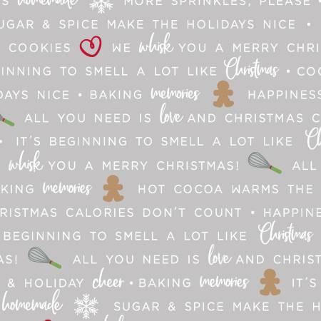 We Whisk You a Merry Christmas - Grey Holiday Baking Phrases  - 714329915012 -  Maywood Studios - Kimberbell - Christmas - Maywood Studios - Kimberbell - 9672M-K