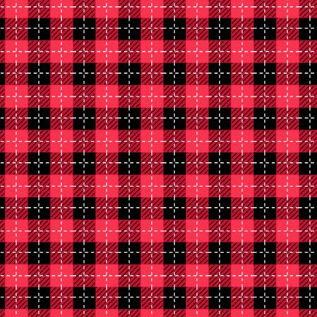 We Whisk You a Merry Christmas - Black/Red Buffalo Plaid - Maywood Studios - Kimberbell - 714329664606 - 9673M-JR