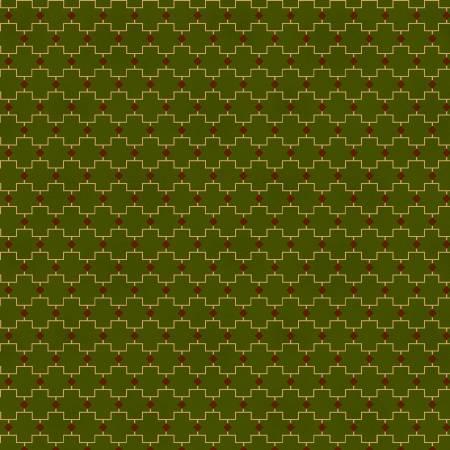 Farmhouse Christmas - Green Geometric