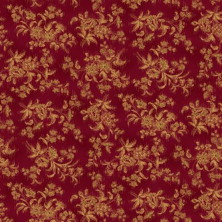 Farmhouse Christmas - Red Stylized Floral