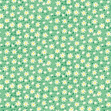 Green Packed Daisies 1930's Reproduction