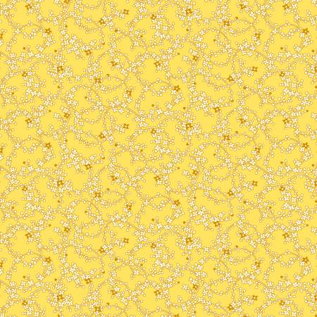 Yellow Tiny Chain of Daisies 1930's Reproduction