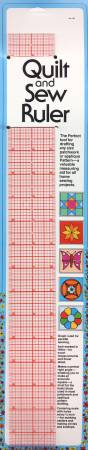Quilt and Sew  Ruler 18in