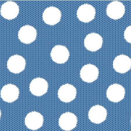 Blue Fuzzy Dot